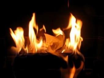 Колдовство от жара сгорающей бумаги