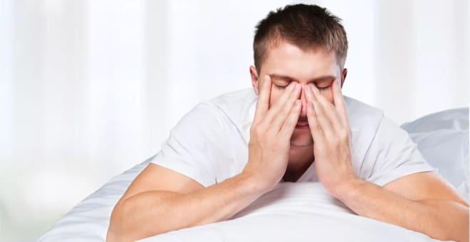 Заболевший парень