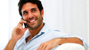 Звонок мужчины по телефону