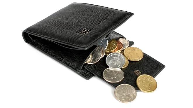 Кошелёк с мелкими деньгами