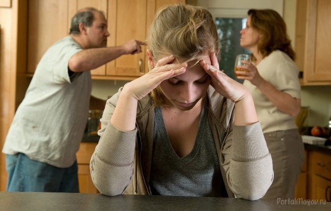 Семейная ссора на кухне