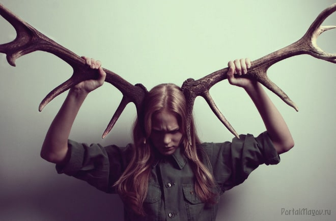 Жена с рогами