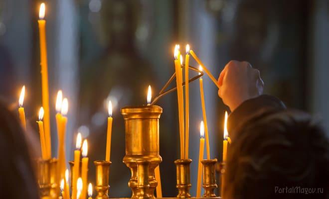 Свечи в местной церквушке